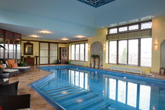 Home indoor pool royalty free stock photo