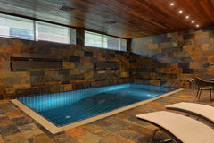 Home indoor pool stock image