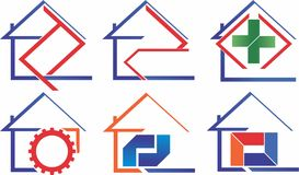 Home industry and product set Royalty Free Stock Image