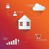 Home infographic Royalty Free Stock Photography