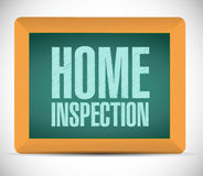 home inspection board sign illustration Stock Image