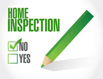 Home inspection check list illustration Royalty Free Stock Image
