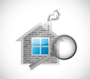 Home inspection concept illustration design Stock Photo