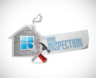 Home inspection house sign illustration design Royalty Free Stock Photo