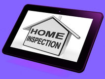Home Inspection House Tablet Means Assessing And Inspecting Prop Stock Photos