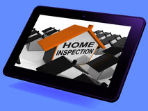 Home Inspection House Tablet Means Review And Scrutinize Propert Royalty Free Stock Images
