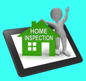Home Inspection House Tablet Shows Examine Property Close-Up Stock Image