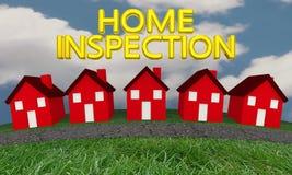 Home Inspection Houses Street Words vector illustration