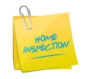 Home inspection memo post illustration design Stock Image