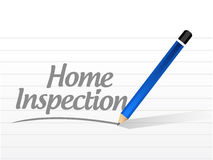 Home inspection message sign illustration design Stock Photography