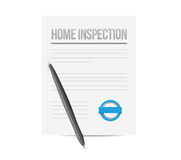 Home inspection paperwork illustration design Stock Photo
