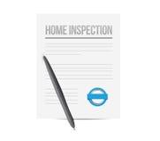 home inspection paperwork illustration design Stock Photo