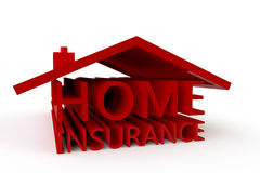 Home Insurance. The words Home Insurance formed into the shape of a 3D house Royalty Free Stock Photos