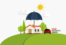 Home insurance business service. Vector illustration concept of. Insurance Royalty Free Stock Photography