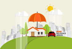 Home insurance business service. Vector illustration concept of. Insurance Stock Images