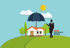 Home insurance business service. Vector illustration concept of. Insurance Stock Image