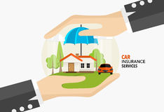 Home insurance business service. Vector illustration concept of. Insurance Royalty Free Stock Photo