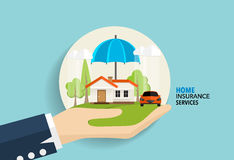 Home insurance business service. Vector illustration concept of. Insurance Stock Photos