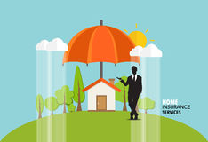Home insurance business service. Vector illustration concept of. Insurance Stock Photography