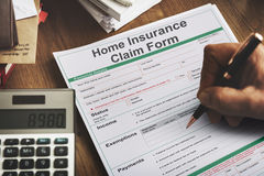 Home Insurance Claim Form Document Refund Concept Royalty Free Stock Photos