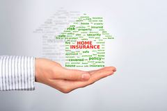 Home insurance collage. Royalty Free Stock Image