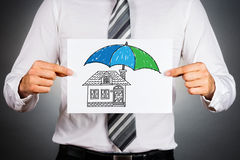 Home insurance concept. Royalty Free Stock Photography