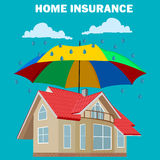 Home insurance concept, design element, vector illustration Royalty Free Stock Photo