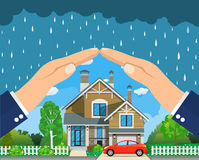 Home insurance concept. Stock Images