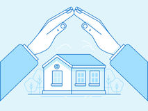Home insurance concept - illustration and infographics design el Stock Photo