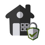 Home insurance design Royalty Free Stock Photo