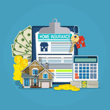 Home insurance form concept Stock Photos