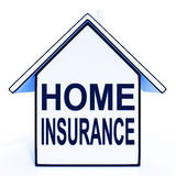Home Insurance House Means Protecting And Insuring Royalty Free Stock Photography