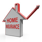 Home Insurance House Shows Protection And Cover Royalty Free Stock Photos