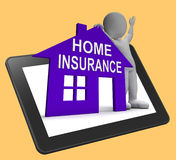 Home Insurance House Tablet Means Insuring Property Stock Photography