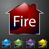 Home Insurance Icons Stock Images