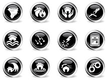 Home Insurance Icons Stock Photos