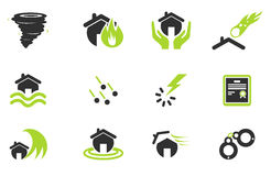 Home Insurance Icons Royalty Free Stock Photography
