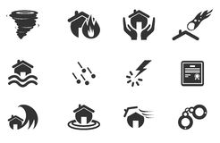Home Insurance Icons Royalty Free Stock Images