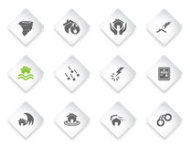 Home Insurance Icons Royalty Free Stock Photos