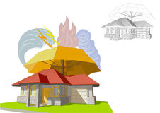 Home insurance. Illustratopn on white background Royalty Free Stock Image