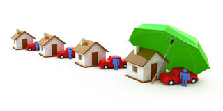 Home Insurance, Life Insurance, Auto Insurance Stock Images