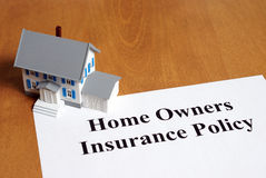 Home Insurance. An insurance policy is an asset for any home owner Royalty Free Stock Image