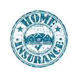Home insurance rubber stamp. Blue grunge rubber stamp with house symbol and the text home insurance written inside the stamp Stock Photography