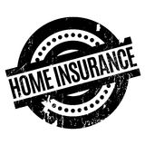 Home Insurance rubber stamp. Grunge design with dust scratches. Effects can be easily removed for a clean, crisp look. Color is easily changed Royalty Free Stock Image