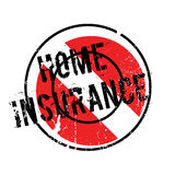 Home Insurance rubber stamp. Grunge design with dust scratches. Effects can be easily removed for a clean, crisp look. Color is easily changed Stock Image