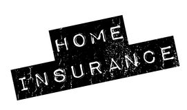 Home Insurance rubber stamp. Grunge design with dust scratches. Effects can be easily removed for a clean, crisp look. Color is easily changed Royalty Free Stock Photos