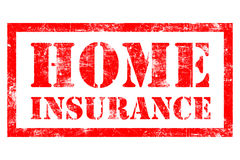 Home Insurance rubber stamp. Home Insurance stamp in red ink Royalty Free Stock Image