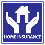 Home insurance sign Royalty Free Stock Images