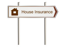 Home insurance sign Stock Images
