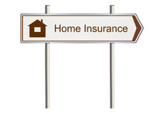 Home insurance sign Royalty Free Stock Image